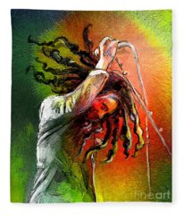 Bob Marley 07 Fleece Blanket