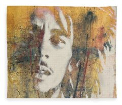 Bob Marley Art - Portrait Size  Fleece Blanket