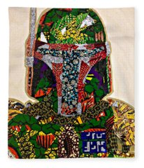 Boba Fett Star Wars Afrofuturist Collection Fleece Blanket