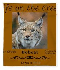Bobcat - Lynx Rufus Fleece Blanket