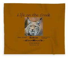 Bobcat - Lynx Rufus Fleece Blanket