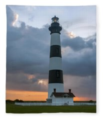 Bodie Island Lighthouse Sunset Fleece Blanket