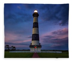 Bodie Island Twilight  Fleece Blanket
