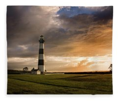 Bodie Lighthous Landscape Fleece Blanket
