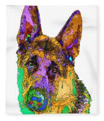 Bogart The Shepherd. Pet Series Fleece Blanket
