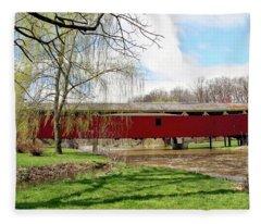 Bogert Covered Bridge Fleece Blanket