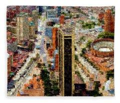 Bogota Colombia Fleece Blanket
