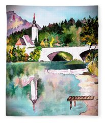 Bohinj - Church Of St John, Slovenia Fleece Blanket