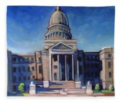 Boise Capitol Building 02 Fleece Blanket