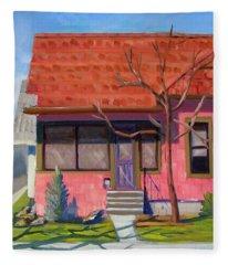 Boise Ridenbaugh St 02 Fleece Blanket