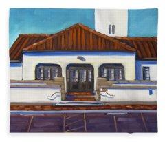 Boise Train Depot Fleece Blanket