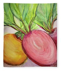 Bold Beets Fleece Blanket
