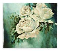 Bold Blooms Fleece Blanket