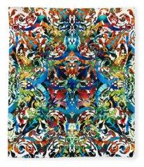 Bold Pattern Art - Color Fusion Design 8 By Sharon Cummings Fleece Blanket