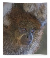 Bolivian Grey Titi Monkey Fleece Blanket