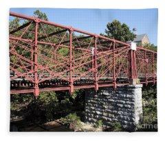 Bollman Truss Bridge At Savage In Maryland Fleece Blanket