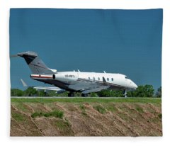 Bombardier Challenger 300 Fleece Blanket