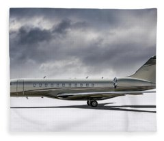Bombardier Global 5000 Fleece Blanket