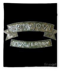 Bon Jovi New Jersey Fleece Blanket