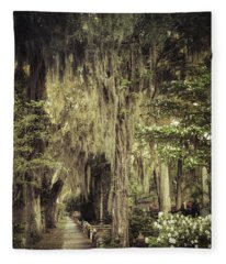 Bonaventure Cemetery Lane Fleece Blanket