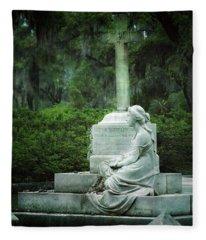 Bonaventure Cemetery Statue Fleece Blanket