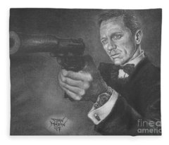 Bond Portrait Number 3 Fleece Blanket