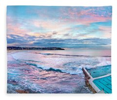 Bondi Beach Icebergs Fleece Blanket