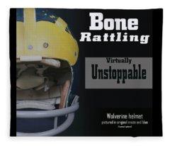 Bone Rattling Virtually Unstoppable Fleece Blanket