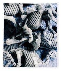 Bones From A Mass Extinction Event Fleece Blanket