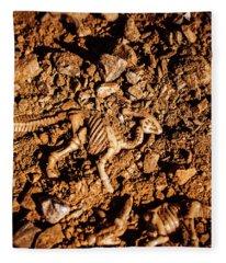 Bones From Ancient Times Fleece Blanket