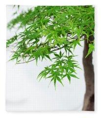 Bonsai Acer Tree Fleece Blanket