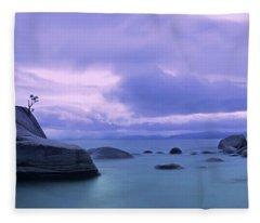 Bonsai Rock Blues By Brad Scott Fleece Blanket
