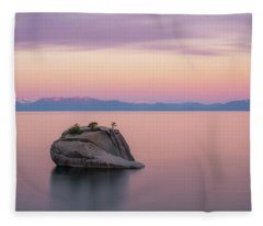 Bonsai Rock Sunrise Pano Fleece Blanket