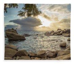 Bonsai Rock Through The Trees By Brad Scott Fleece Blanket