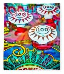 Bonus Points - Pinball Fleece Blanket