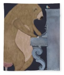 Boogie Bear  Fleece Blanket