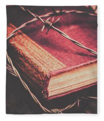 Christianity Photographs Fleece Blankets