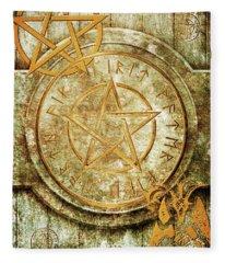 Book Of The Occult Fleece Blanket