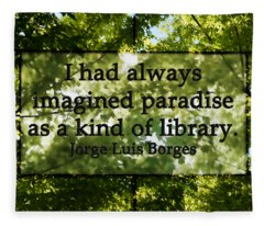 Books Are A Paradise Fleece Blanket