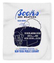 Books Are Weapons - Wpa Fleece Blanket