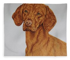 Boomer The Vizsla Fleece Blanket