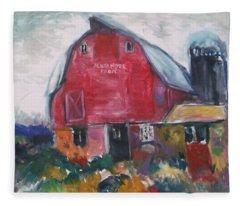Boompa's Barn Fleece Blanket