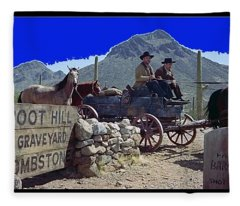 Boot Hill Cemetery Gunfight At The O.k. Corral Set Old Tucson Arizona 1957-2015 Fleece Blanket