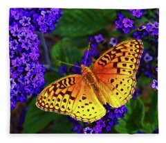 Boothbay Butterfly Fleece Blanket