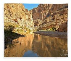 Boquillas Canyon Reflections Fleece Blanket