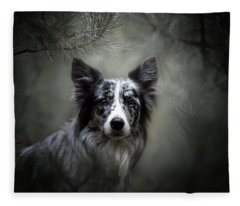 Border Collie Fleece Blanket