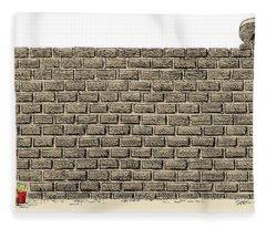 Border Wall Fleece Blanket