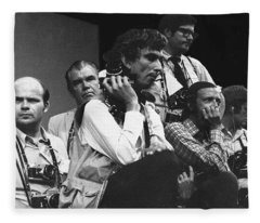 Bored Photographers #1 Democratic National Convention Miami Beach Florida 1972 Fleece Blanket