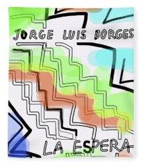 Borges The Wait Short Story  Fleece Blanket