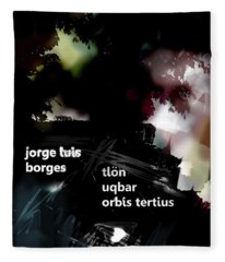 Borges Tlon Poster  Fleece Blanket